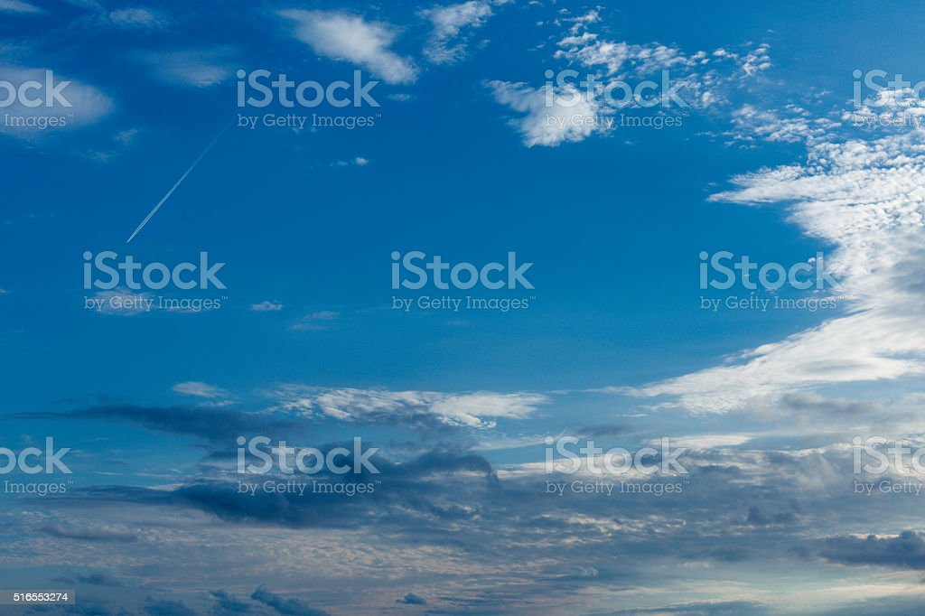 The Blue Sky and Clouds stock photo