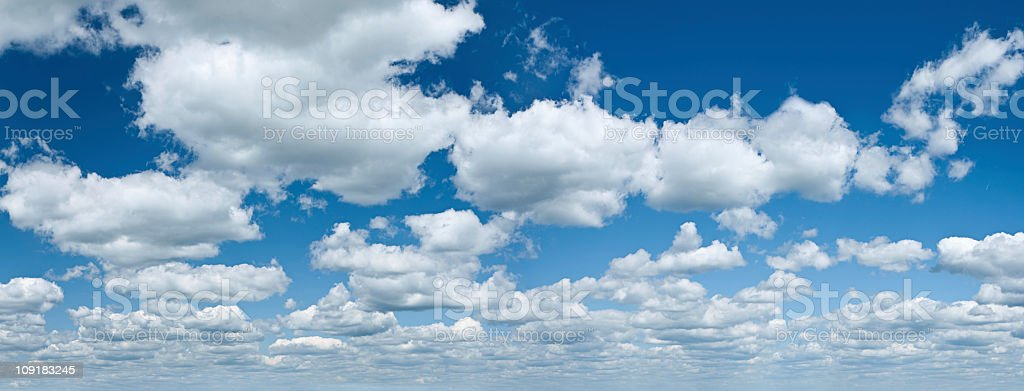 The blue sky panorama 32MPix XXXXL size royalty-free stock photo