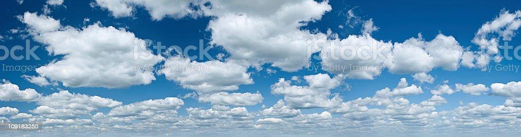 The blue sky panorama 45MPix XXXXL size royalty-free stock photo