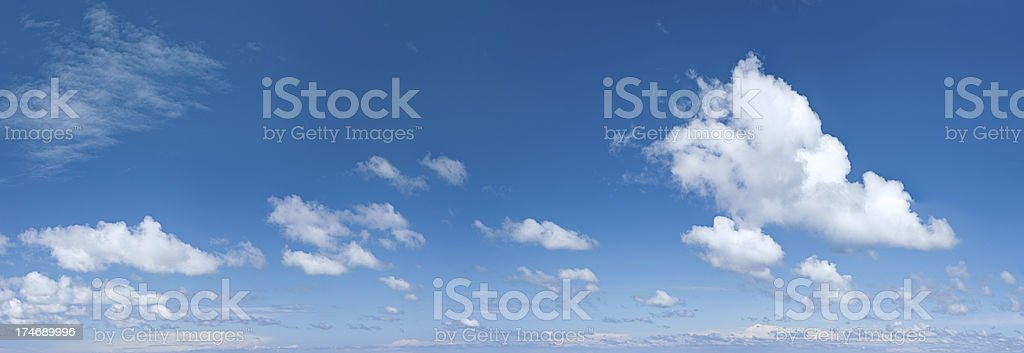 The blue sky panorama 77 MPix XXXXL royalty-free stock photo