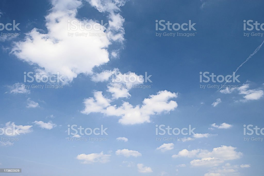The blue sky stock photo