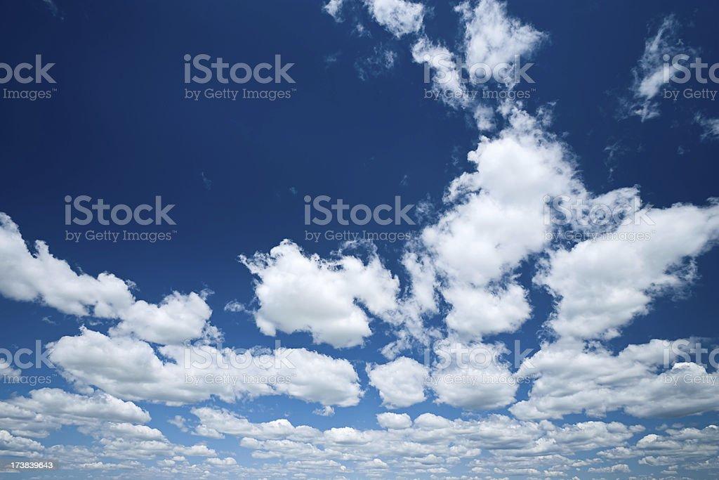 The blue sky royalty-free stock photo