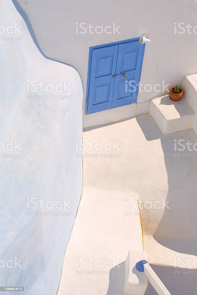 The blue window from greece royalty-free stock photo