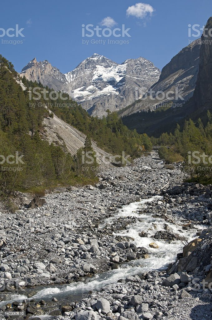 The Bluemlisalp massif stock photo