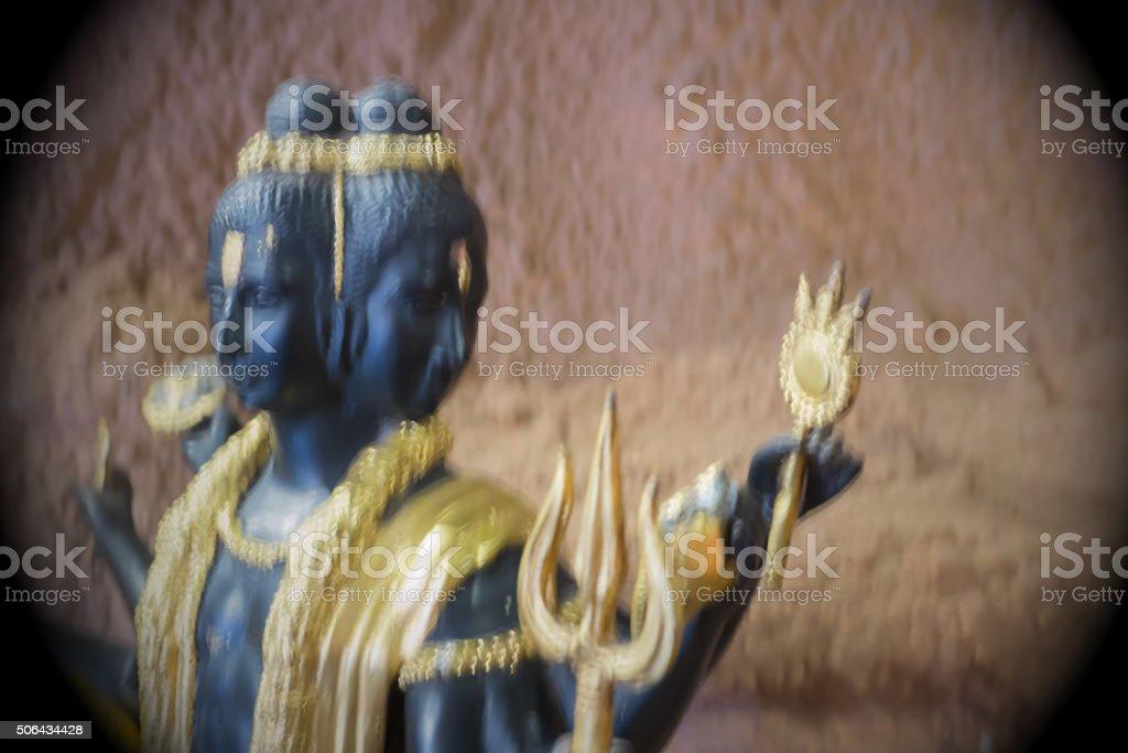Die Weichzeichnen Brahma, die Hindu-Gott der Schaffung von Arbeitsplätzen. Lizenzfreies stock-foto