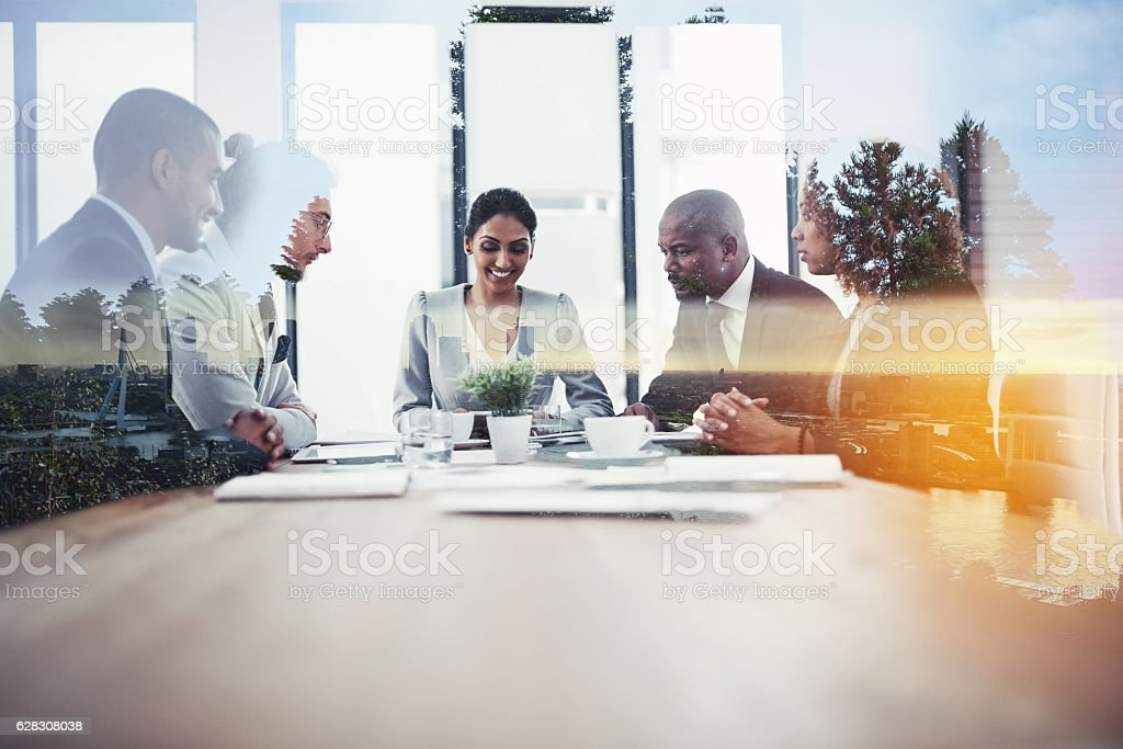 The boardroom is the best place to start stock photo