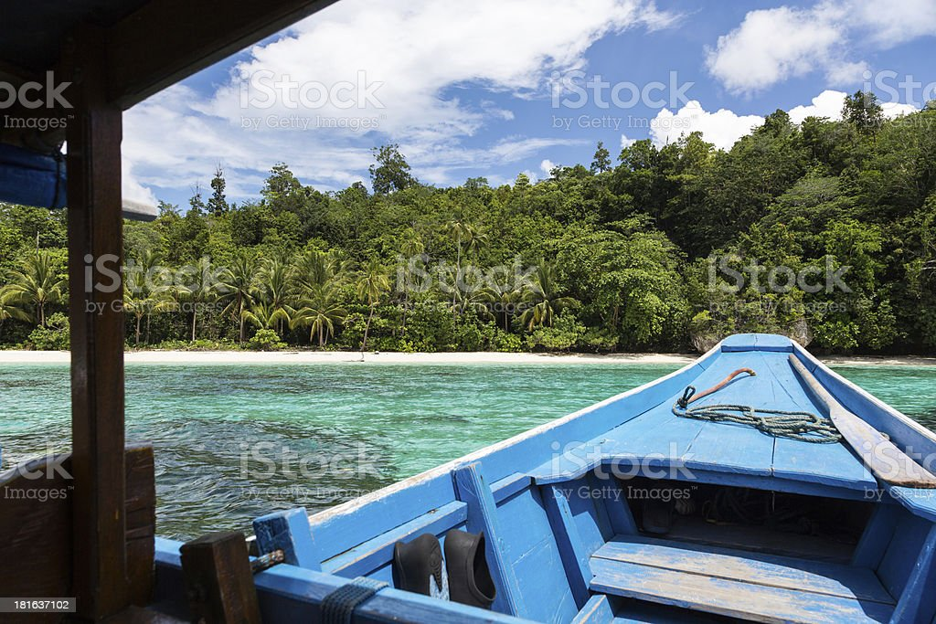 The boat to paradise royalty-free stock photo