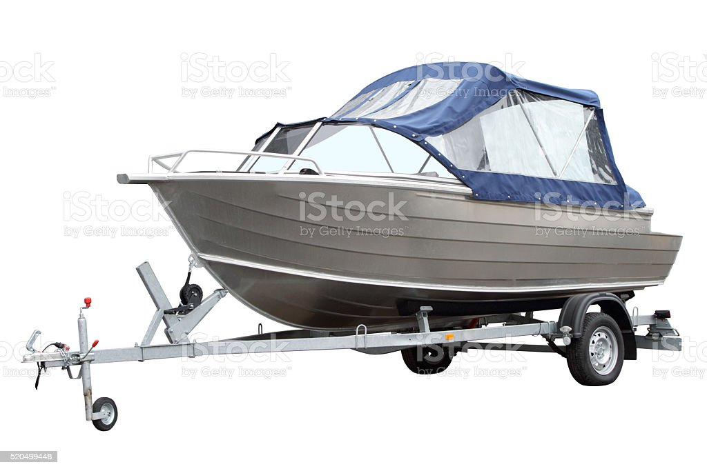 The boat with the tent. stock photo