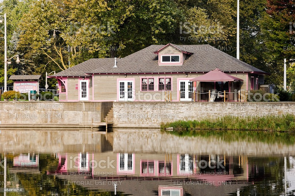 The Boathouse Tea Room in Guelph stock photo