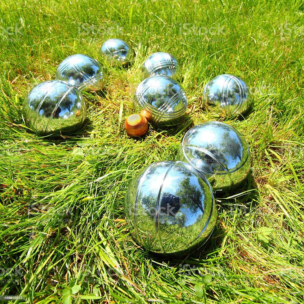 The bocce balls. stock photo