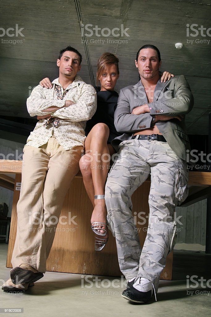 The bodyguards royalty-free stock photo
