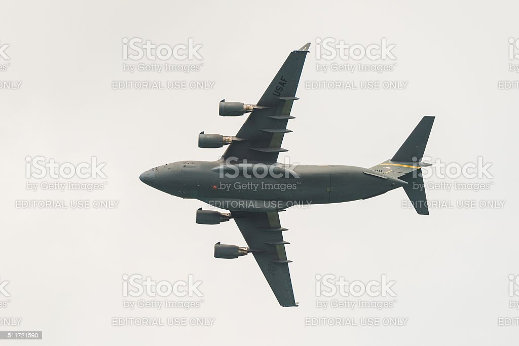 The Boeing C-17 Globemaster III Airshow stock photo