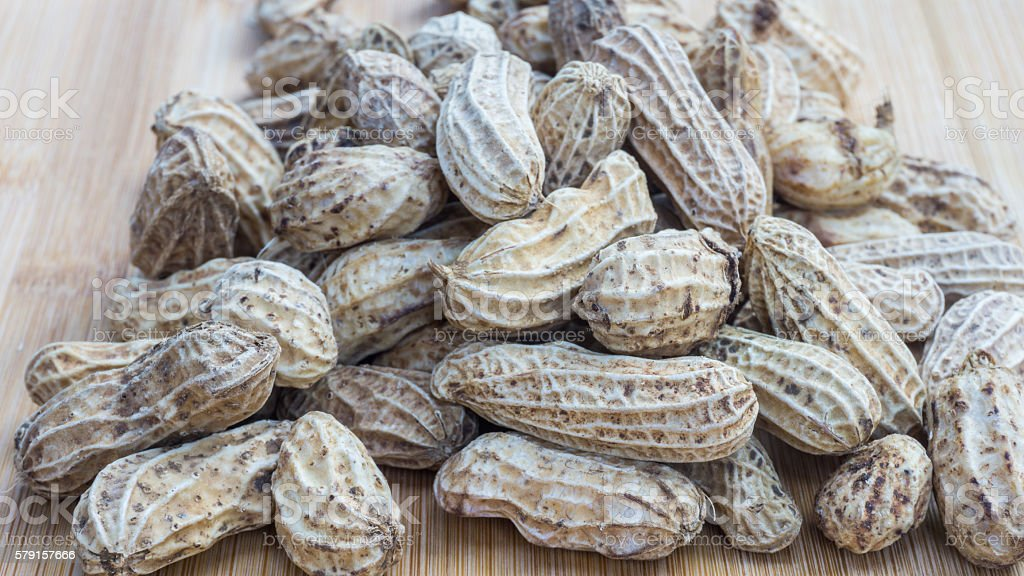 The boiled peanuts royalty-free stock photo