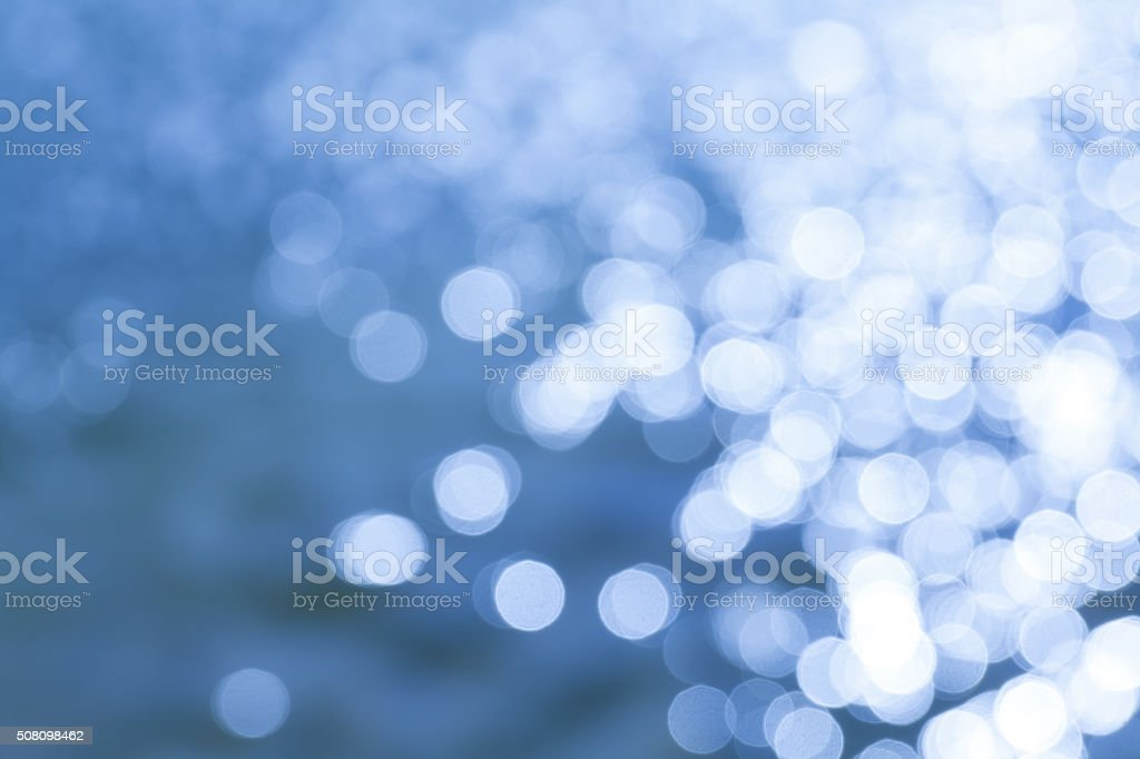 the bokeh of water reflextion stock photo