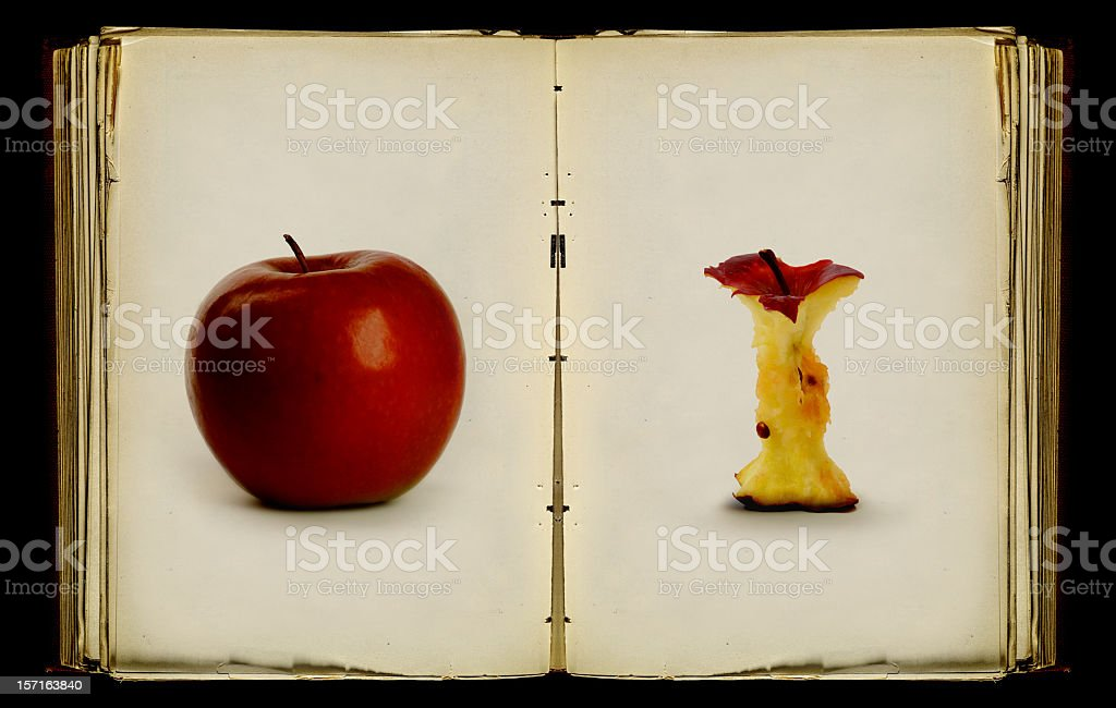 the book of apples stock photo