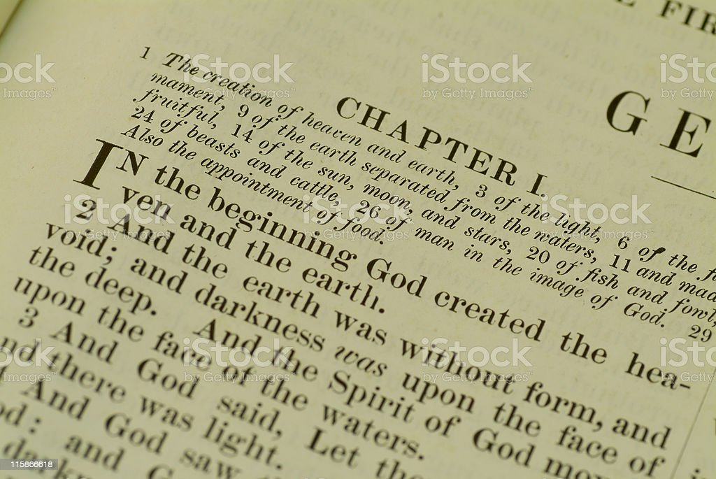 The book of Genesis 03 royalty-free stock photo