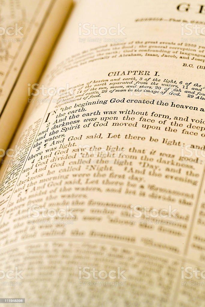 The book of genesis stock photo