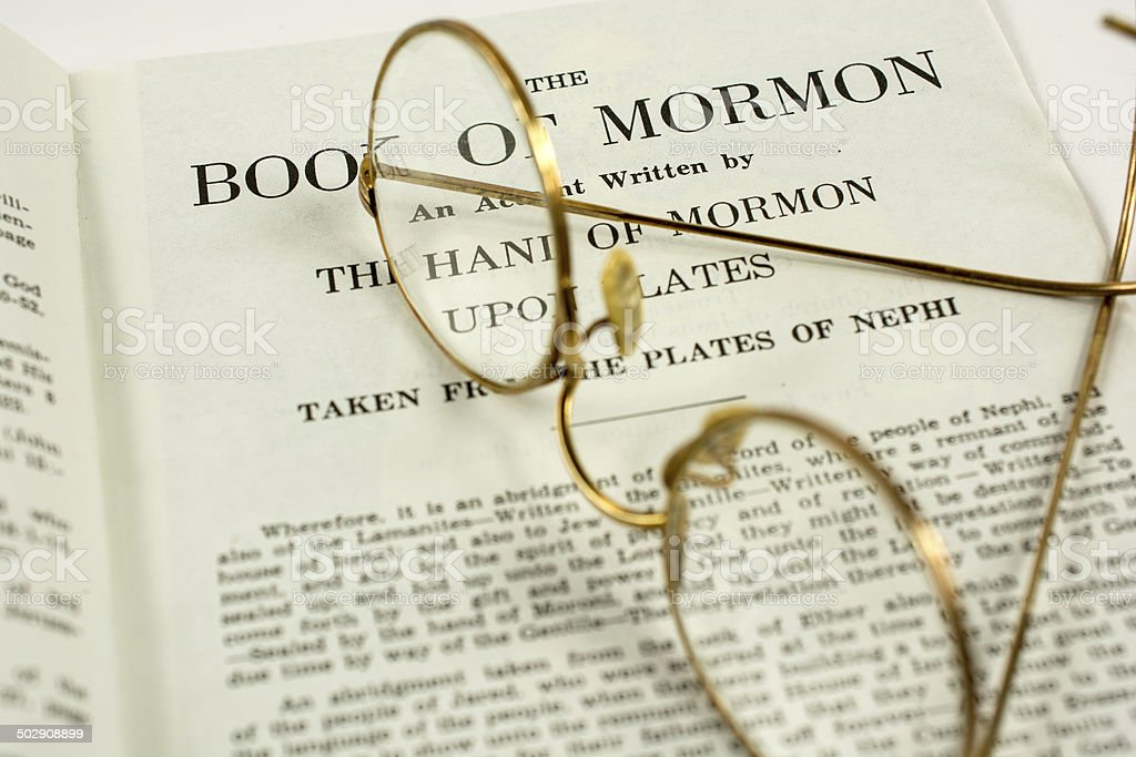 The Book of Mormon stock photo