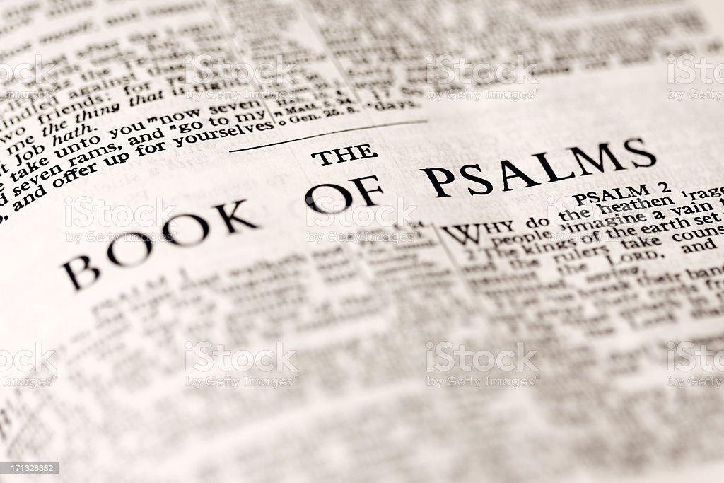 The Book of Psalms royalty-free stock photo