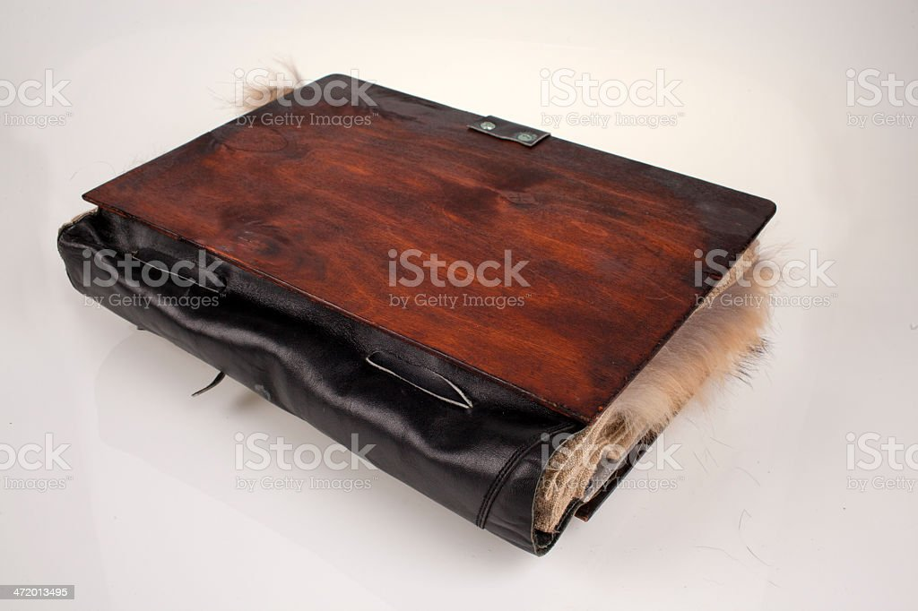The book of spells and magic stock photo
