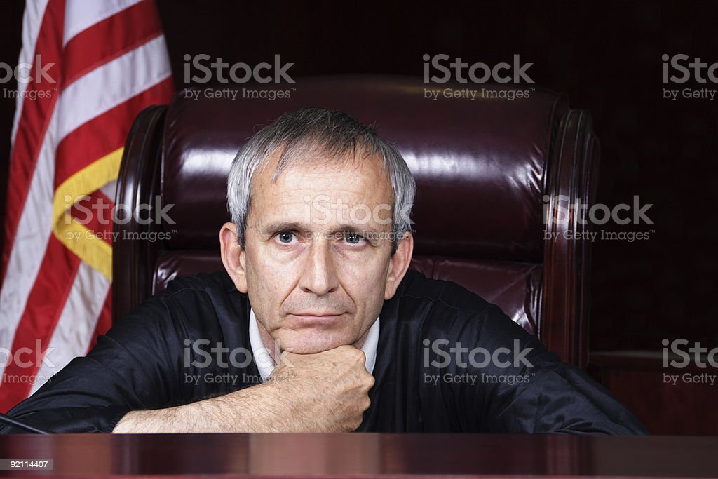 The Bored Judge royalty-free stock photo