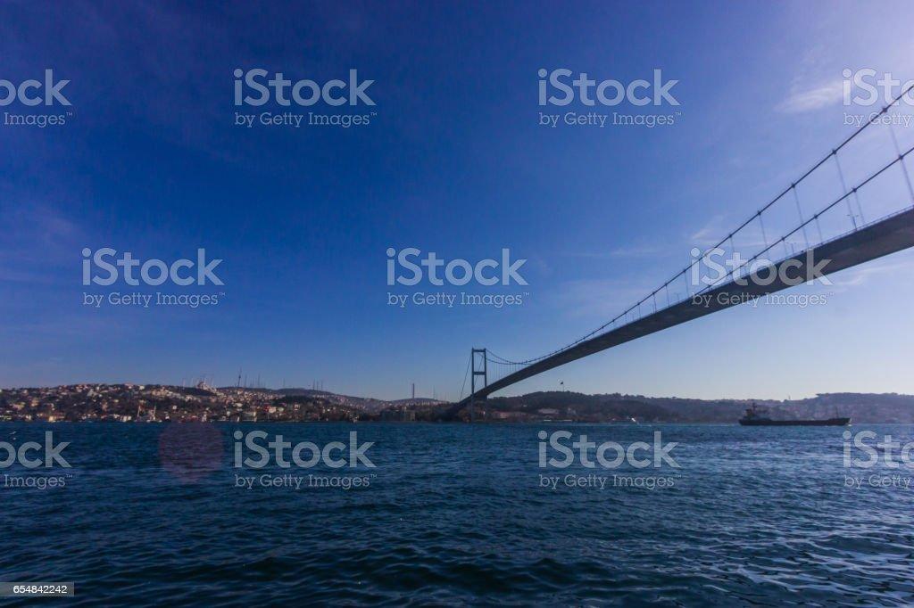 The Bosphorus Bridge , Istanbul, Turkey stock photo