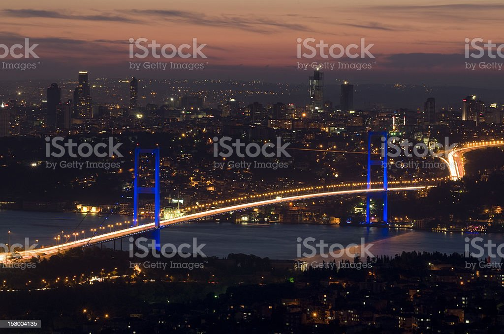 The Bosphorus Bridge royalty-free stock photo