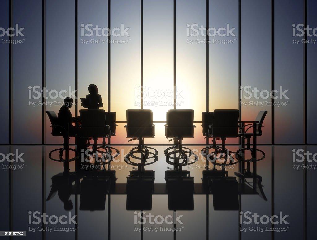 The boss and his secretary stock photo