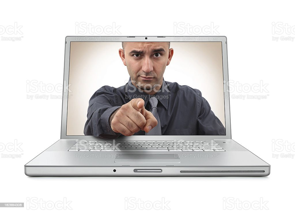 The Boss in Laptop stock photo