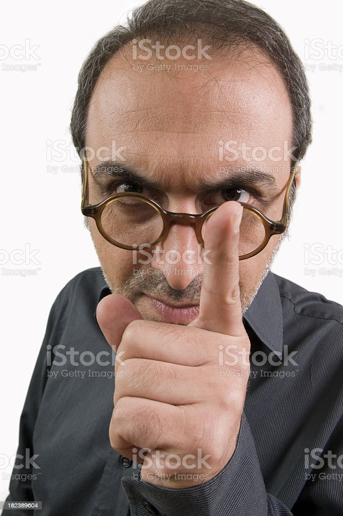 the boss is mad stock photo