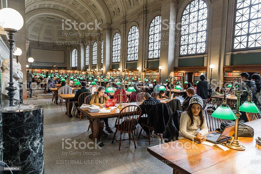 The Boston Public Library stock photo