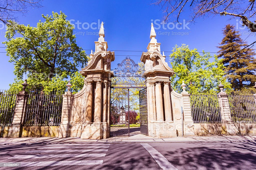 The Botanical Garden of the University of Coimbra stock photo