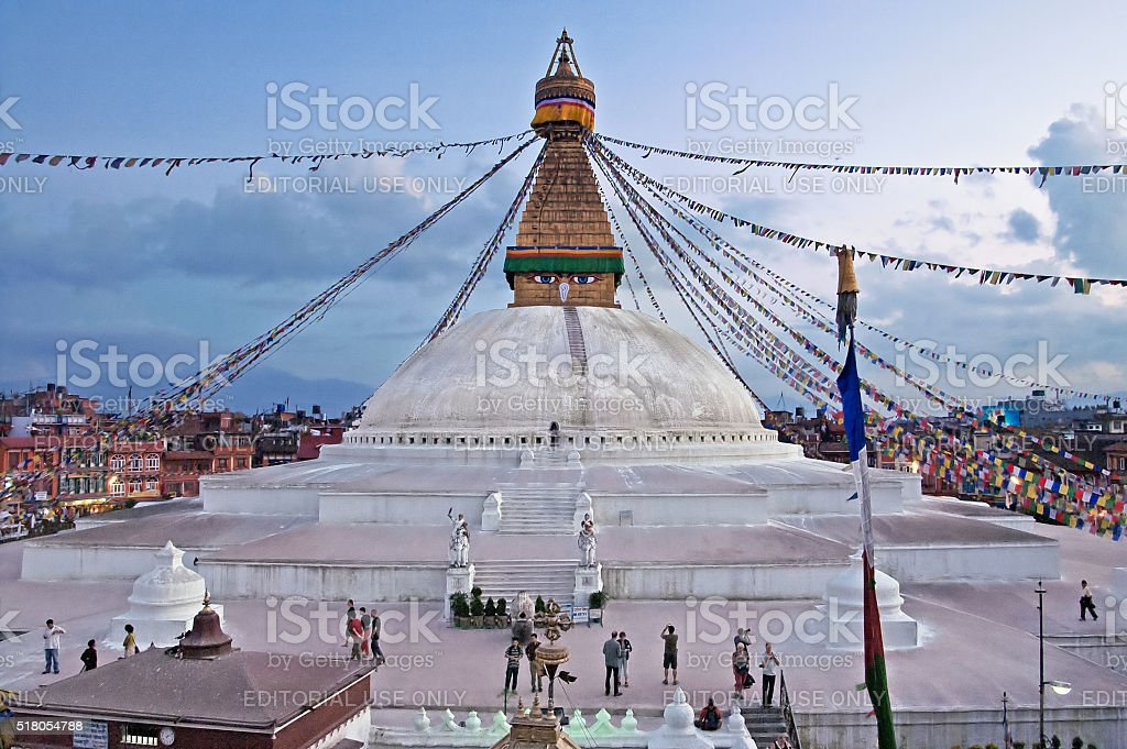 The Boudhanath stupa, Kathmandu, Nepal stock photo