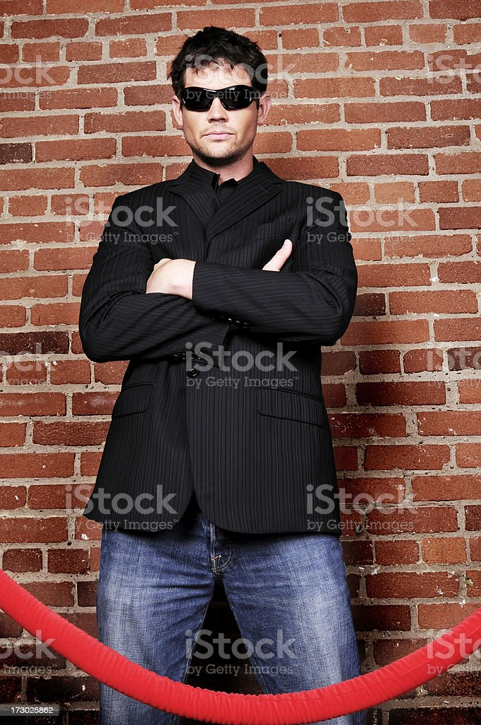 The Bouncer royalty-free stock photo