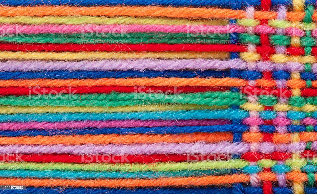 The bound strings for knitting stock photo