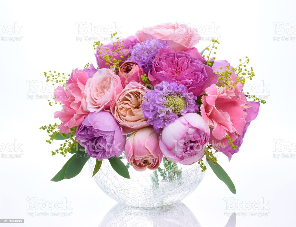 The bouquet of flowers stock photo
