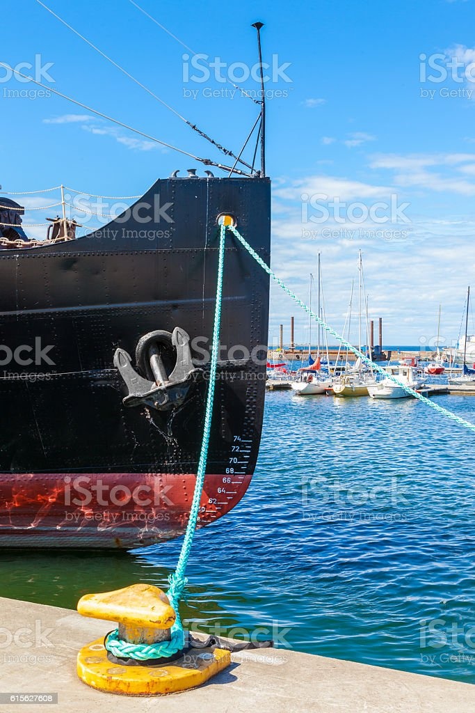 The bow of a icebreaker ship stock photo