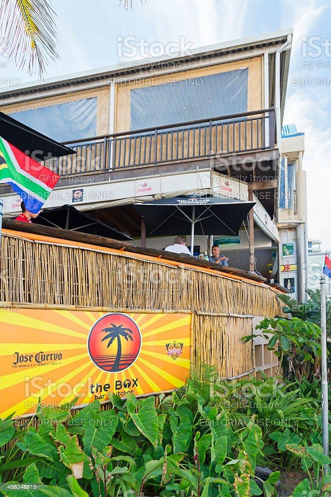 The Box Restaurant in Umhlanga royalty-free stock photo