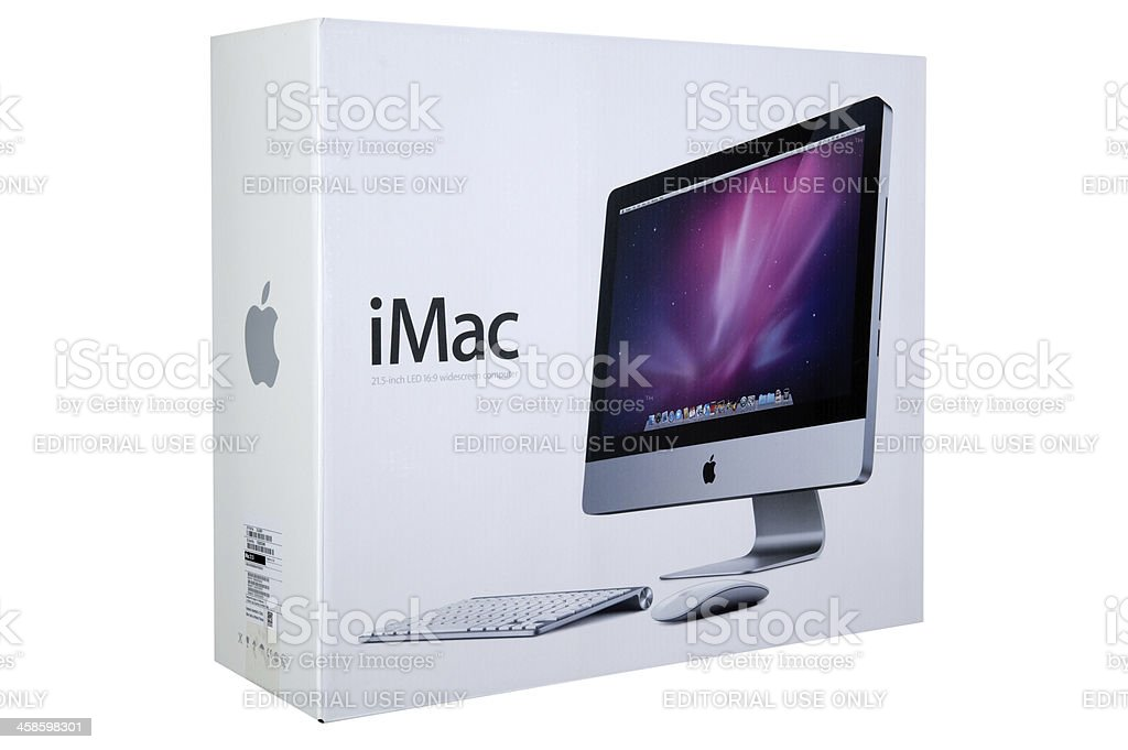 The boxed Imac royalty-free stock photo