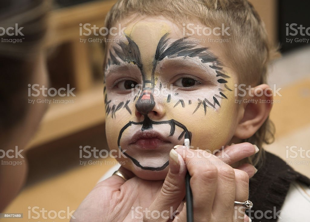 The boy and a make-up royalty-free stock photo