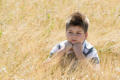 The Boy in the autumn field