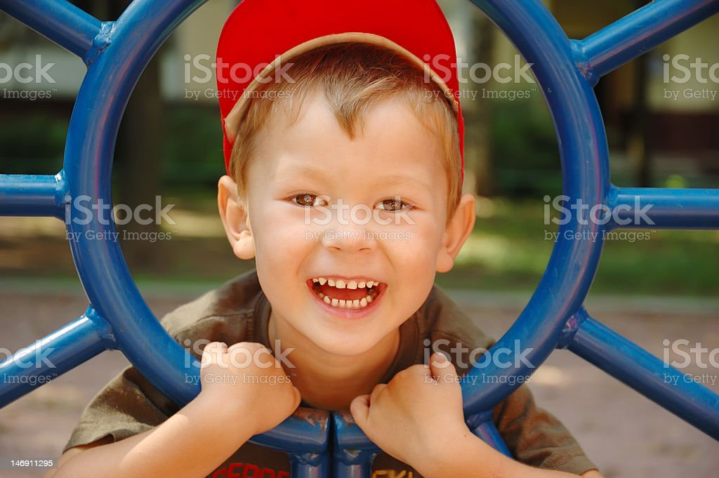 The boy laughs royalty-free stock photo