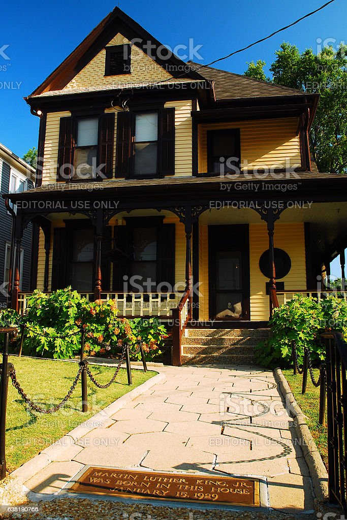 The Boyhood Home of Martin Luther King stock photo
