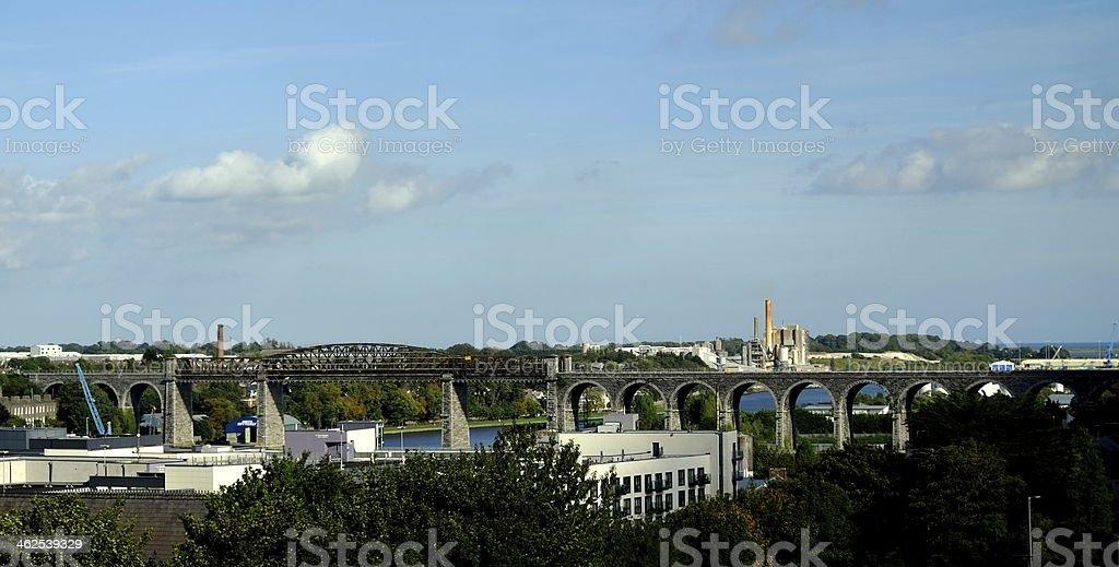 The Boyne Viaduct stock photo