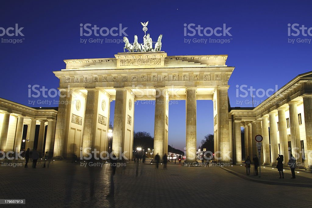 The Brandenburg Gate royalty-free stock photo