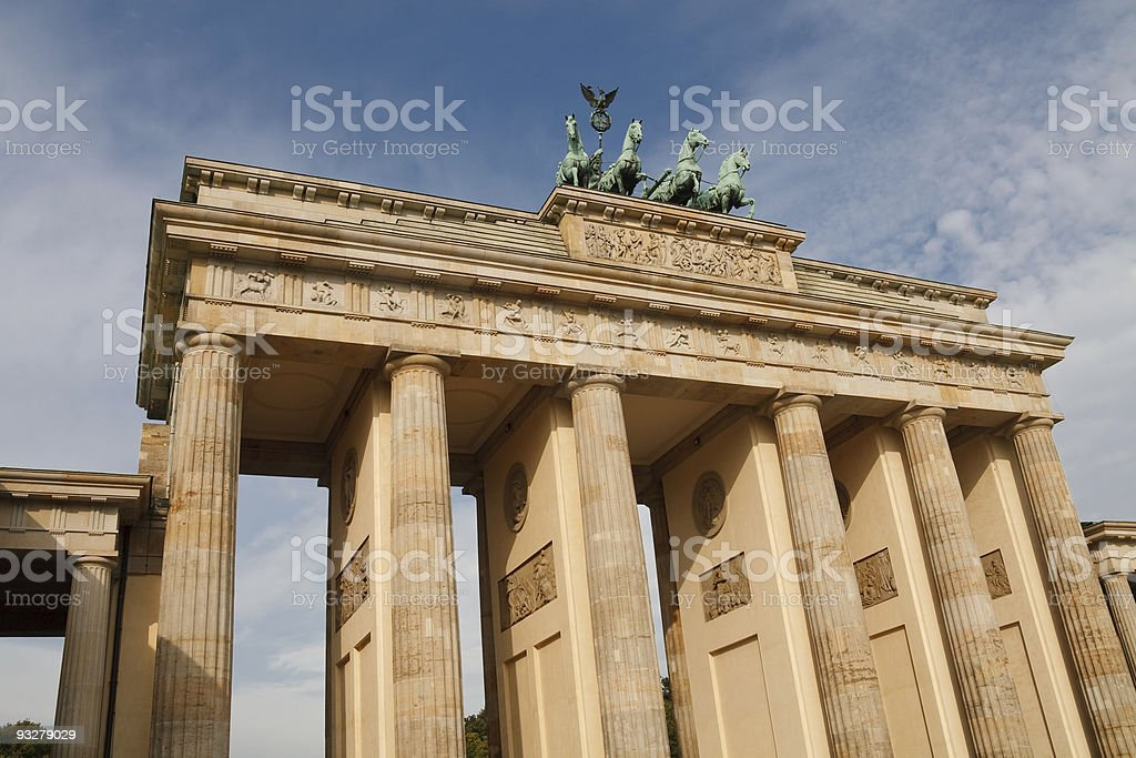 The Brandenburger Tor (Brandenburg Gate) in Berlin, Germany stock photo