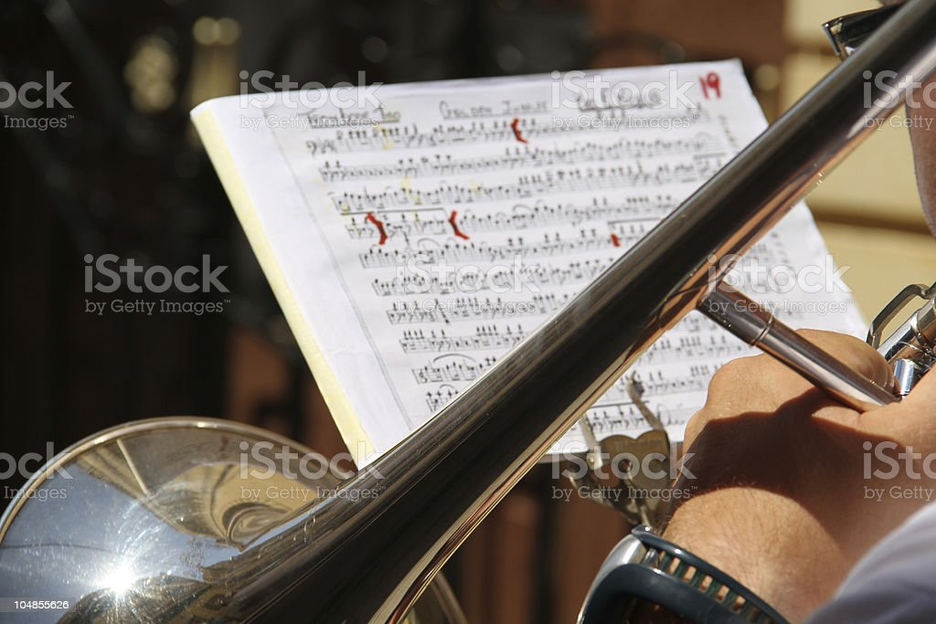The Brass Band Player royalty-free stock photo
