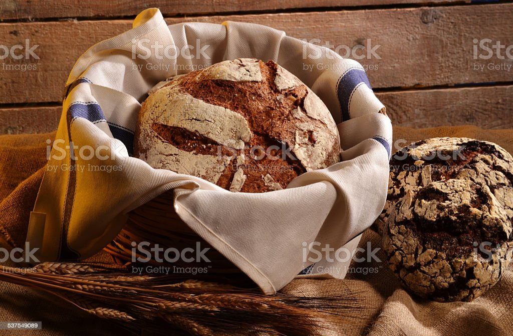 The bread. stock photo