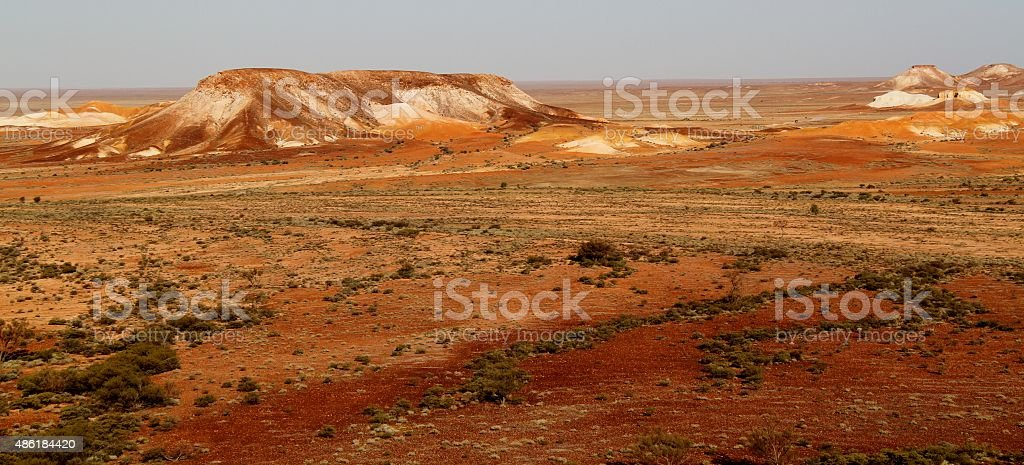 The Breakaways and Gibber Plains of Northern South Australia stock photo