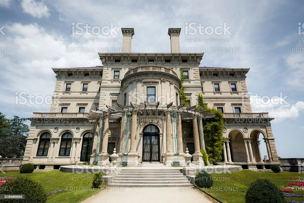 The Breakers mansion at Cliff Walk in Newport, Rhode Island stock photo
